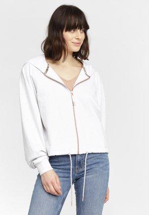 ELIZABETH - Zip-up hoodie - white melee