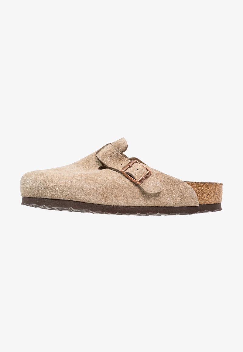Birkenstock - BOSTON SOFT FOOTBED - Slippers - taupe