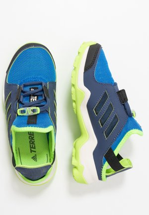 TERREX HYDROTERRA - Hiking shoes - glow blue/core black/singnal green