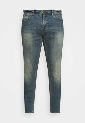 SCRATCHES - Jeans Tapered Fit - denim vintage blue