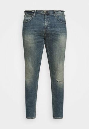 SCRATCHES - Jeans Tapered Fit - denim vintage blue