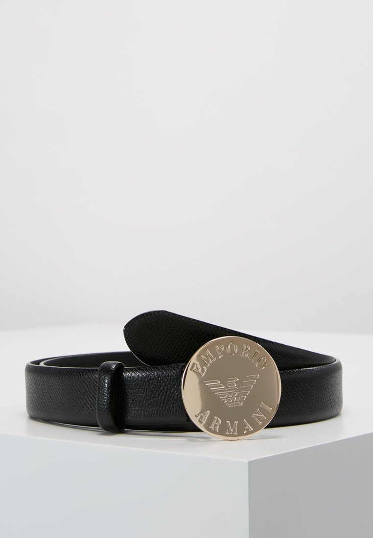 Emporio Armani - MINI DOLLARO CIRCLE BUCKLE - Belt - nero