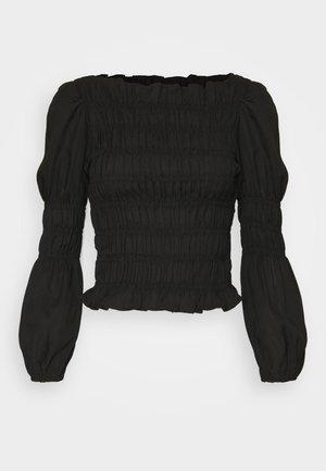 PCPATRICIA SMOCK - Blouse - black