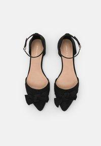 Anna Field Wide Fit - Ankle strap ballet pumps - black - 5