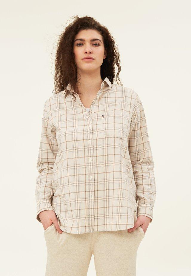 Skjorta - beige multi check