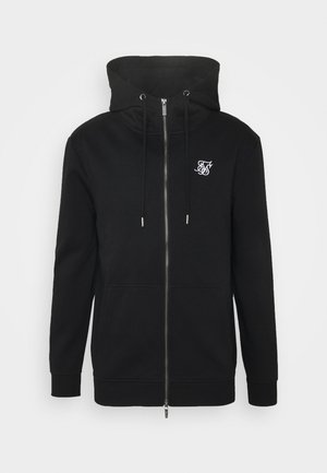 ZIP THROUGH FUNNEL NECK HOODIE - Zip-up hoodie - black