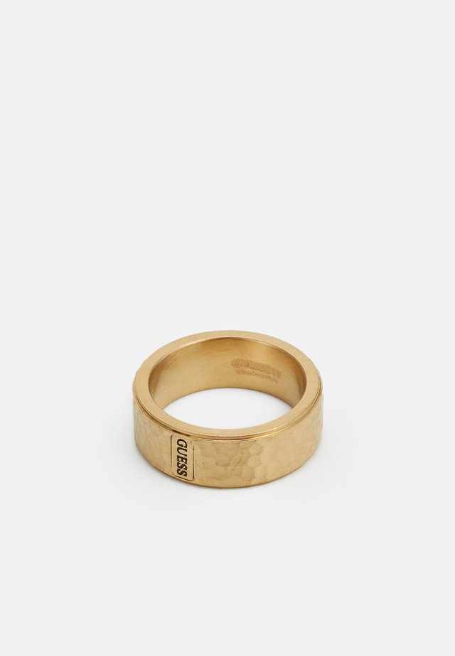HERO HAMMERED BAND - Ring - gold-coloured