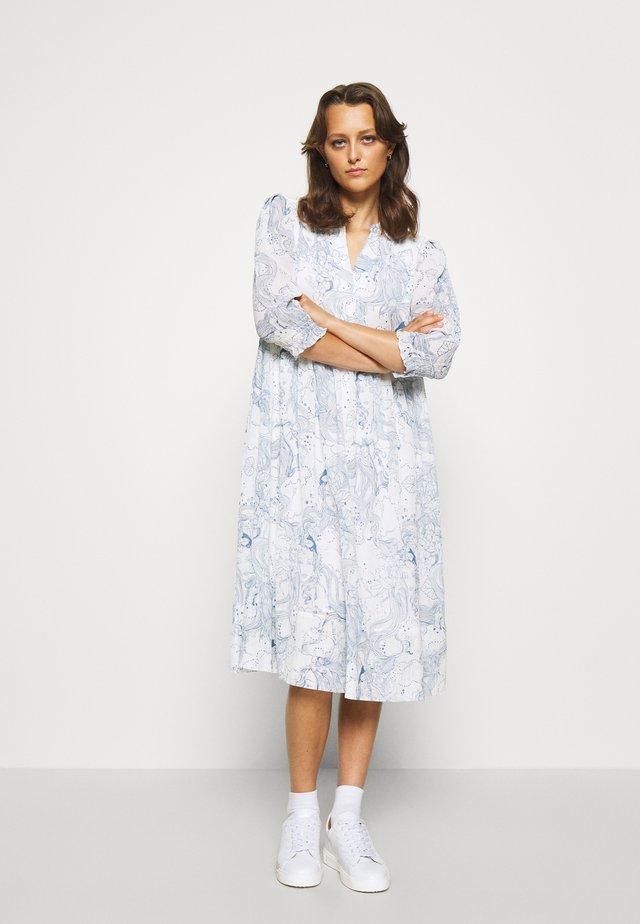 Korte jurk - white/blue