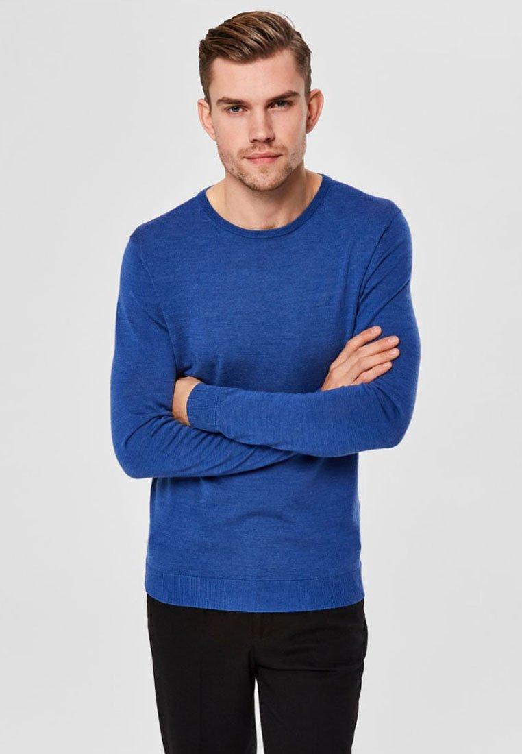 Selected Homme - Jumper - medium blue melange