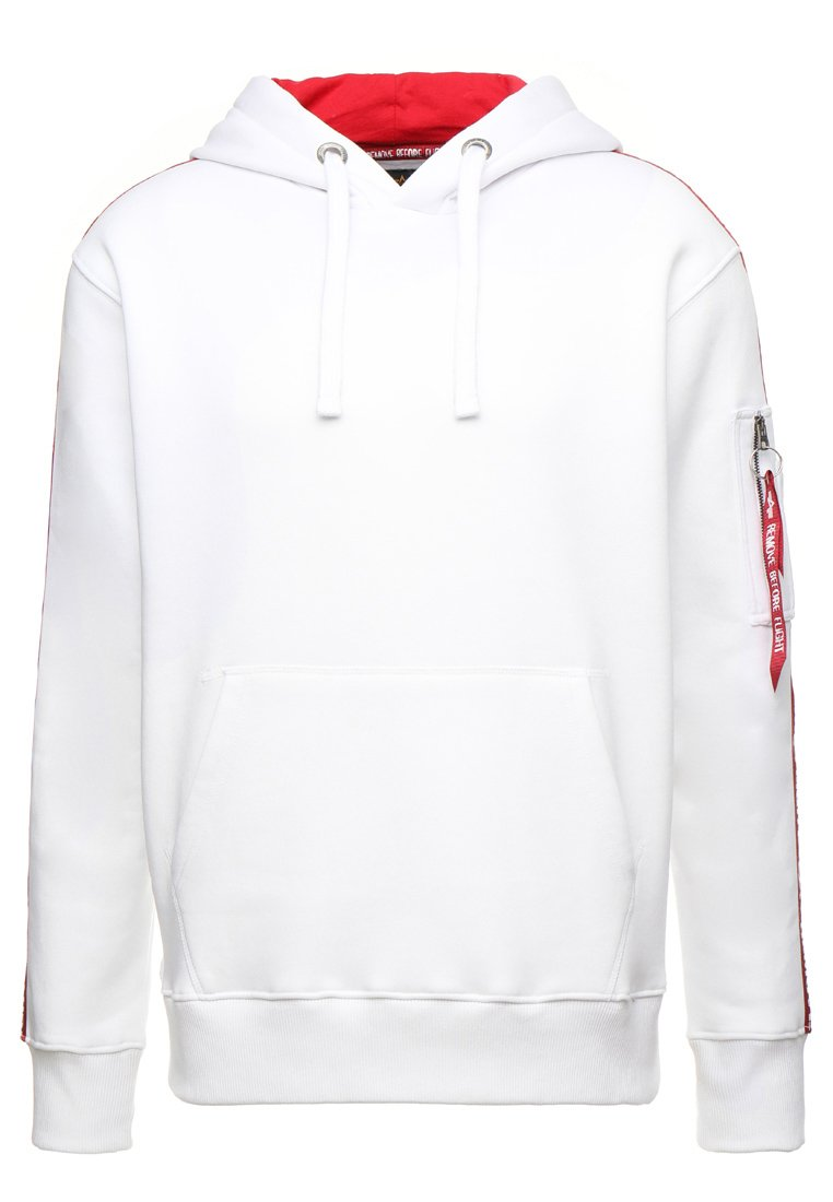 Alpha Industries TAPE HOODY EXCLUSIV - Sweat à capuche - white 11mWXgAi