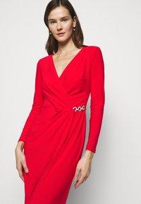 Lauren Ralph Lauren - CLASSIC DRESS - Jersey dress - lipstick red - 3