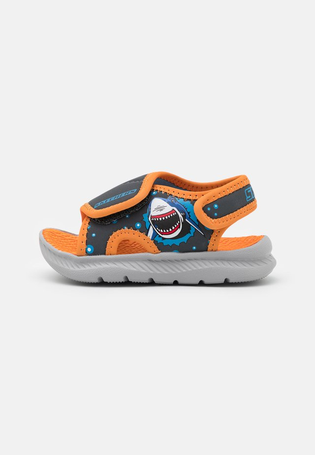 C-FLEX 2.0 - Pool slides - charcoal/orange