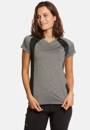 ELLA - Print T-shirt - grey mel/black