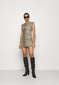 AllSaints - CONI DROPOUT DRESS - Jersey dress - brown - 1