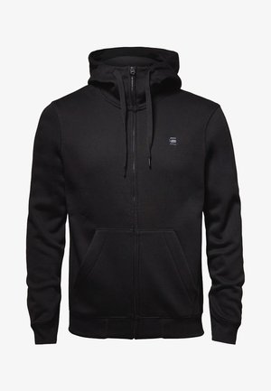 PREMIUM  - veste en sweat zippée - black