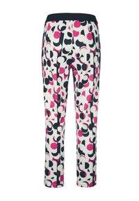 Alba Moda - Trousers - wollweiß,pink,marineblau - 3