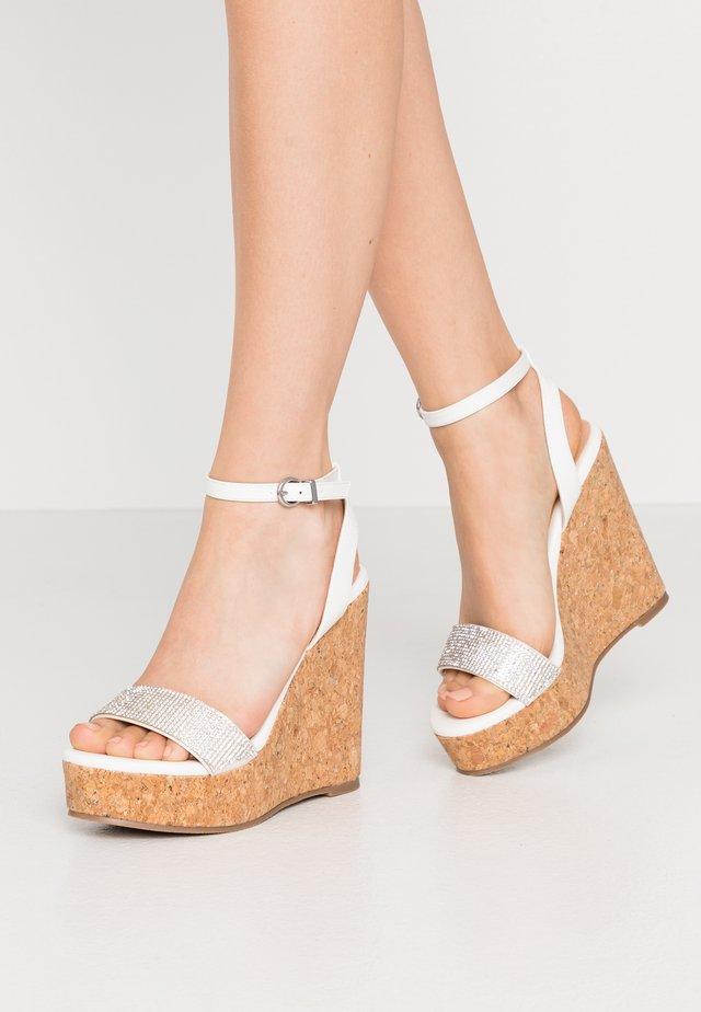 SHAYLA - Sandaler med høye hæler - white