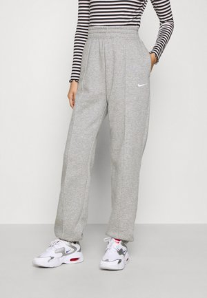 PANT TREND - Verryttelyhousut - dark grey heather/matte silver/white