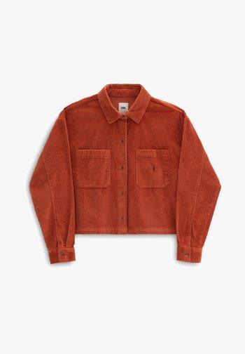 WM AINARA CORD WOVEN - Button-down blouse - picante