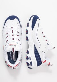 Skechers Sport - D'LITES - Trainers - white/navy/red - 3