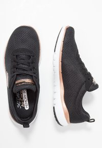 Skechers Sport - FLEX APPEAL 3.0 - Sneaker low - black/rose gold - 3
