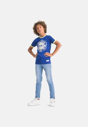 HAMPION - Print T-shirt - admiral blue