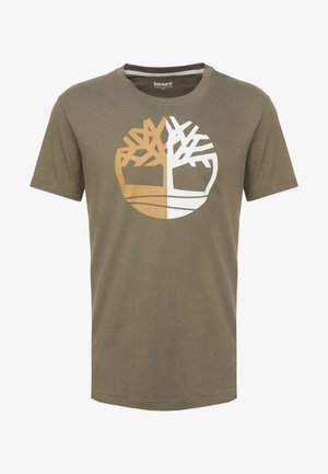TREE LOGO TEE - T-shirt z nadrukiem - grape leaf
