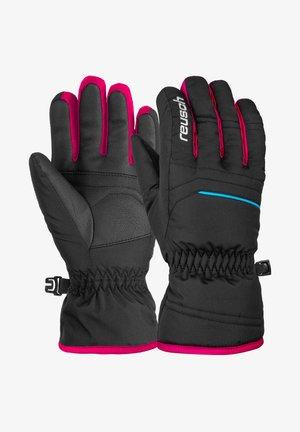ALAN JUNIOR - Gloves - blck blck pink glo