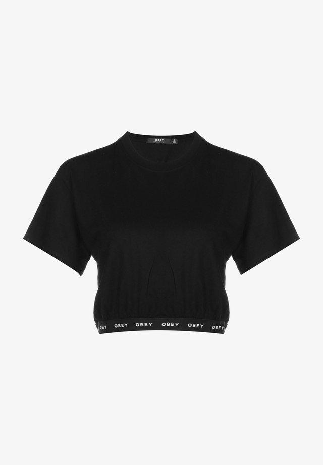 GLEN ASPEN - T-shirt con stampa - black