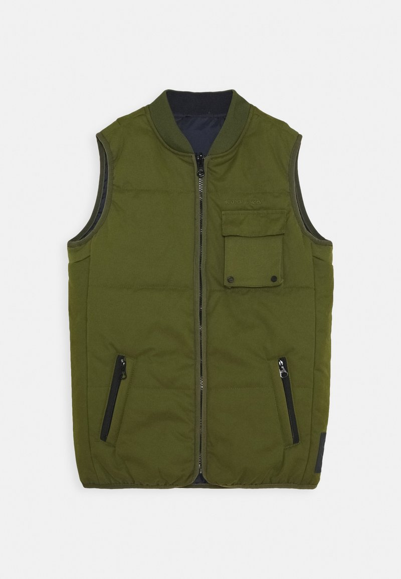 Scotch & Soda - LIGHTWEIGHT REVERSIBLE PADDED BODYWARMER - Bodywarmer - military green