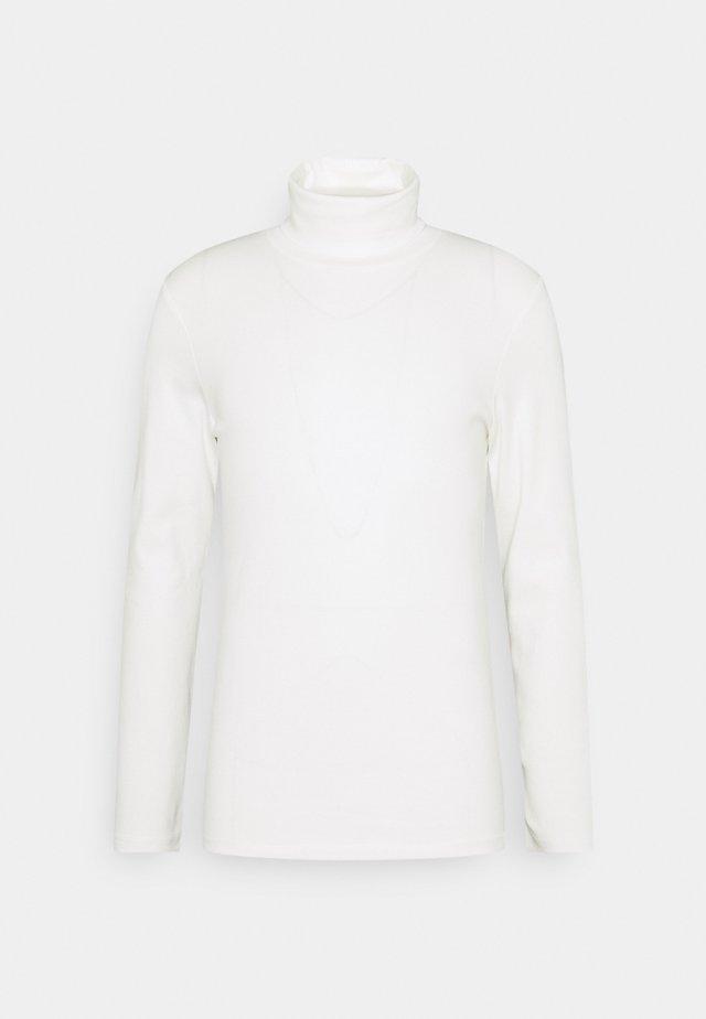 BASIC TURTLE NECK LONGSLEEVE - Pitkähihainen paita - light marsmallow