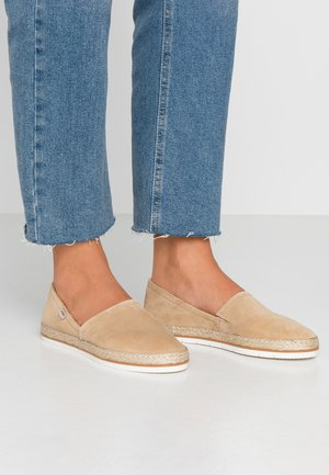 LEATHER - Espadrilky - beige