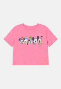 GAP - GIRL MICKEY & FRIENDS - T-shirt con stampa - neon impulsive pink - 0
