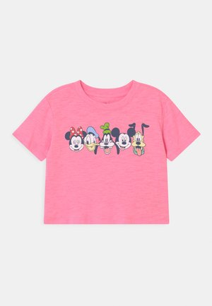 GIRL MICKEY & FRIENDS - T-shirts print - neon impulsive pink