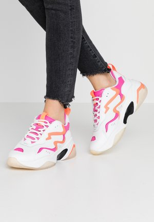 Sneakers - white/neon