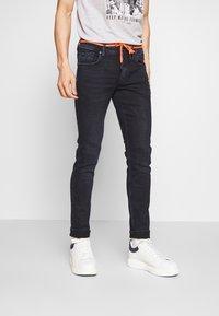 TOM TAILOR DENIM - CULVER PERFORMANCE - Jeans Skinny Fit - blue black denim - 0