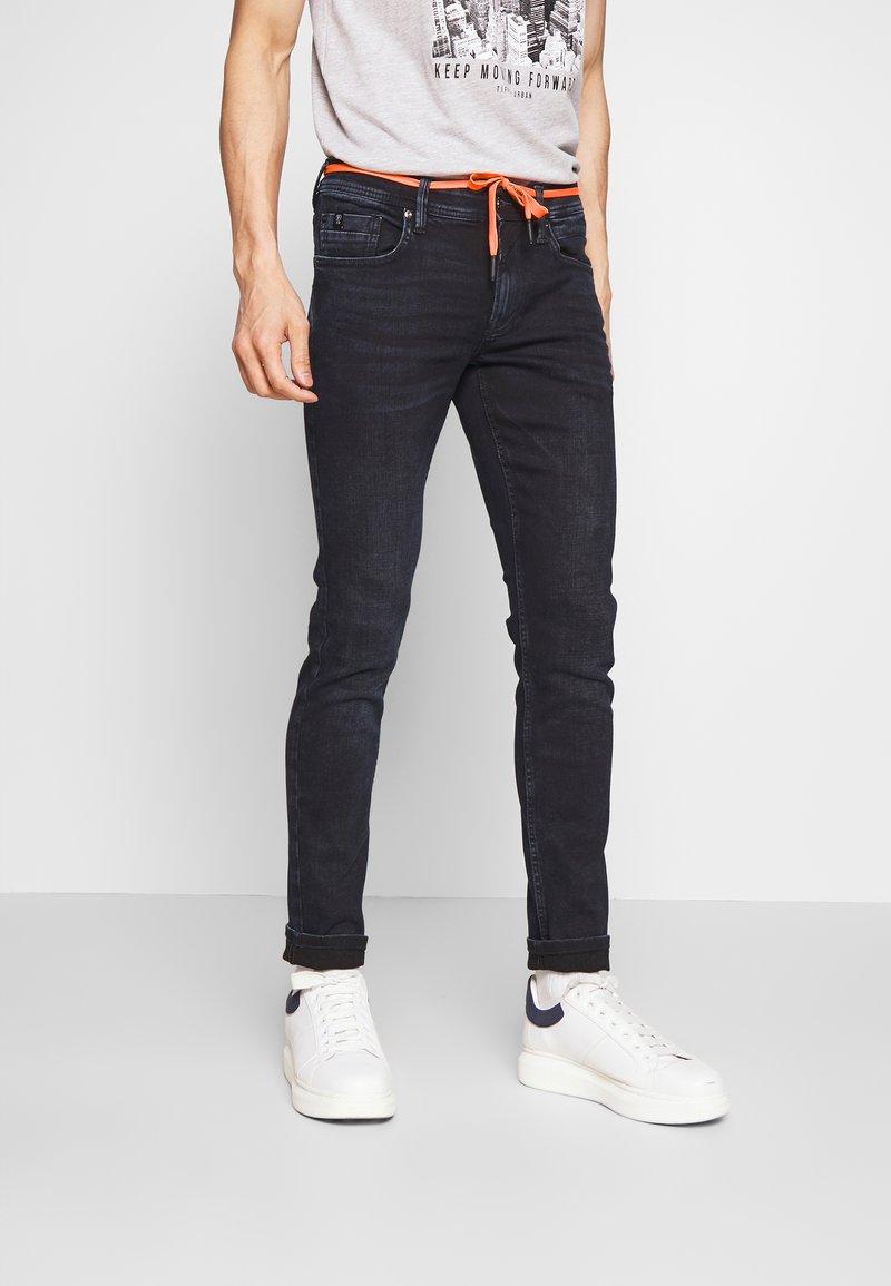 TOM TAILOR DENIM - CULVER PERFORMANCE - Jeans Skinny Fit - blue black denim