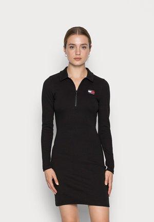 BADGE DRESS - Day dress - black