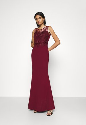 DAISY EMBELLISHED DRESS - Vestido de fiesta - wine