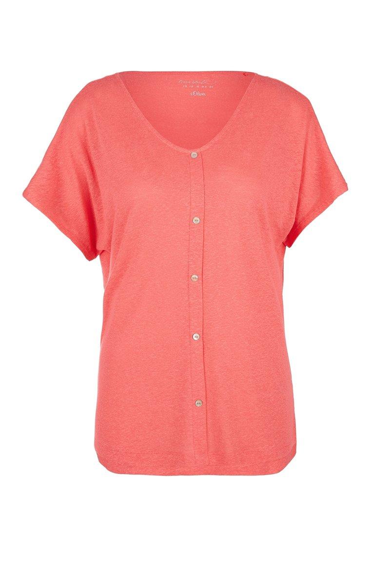 s.Oliver - KURZARM - Print T-shirt - coral