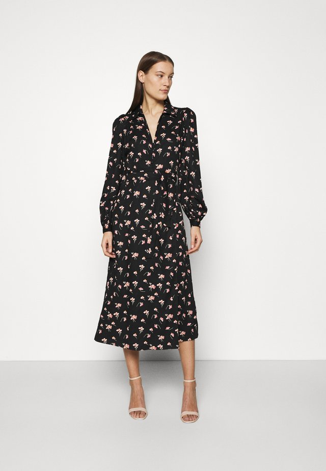 EVERYDAY MIDI DRESS - Shirt dress - black