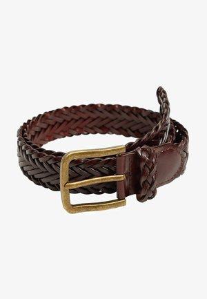 DAVID - Braided belt - braun