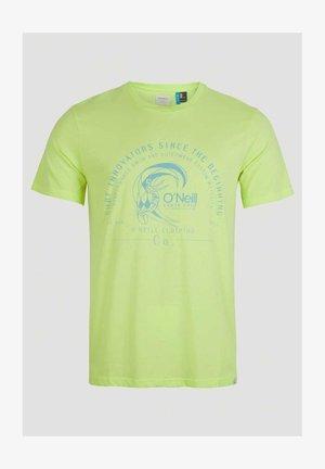 Print T-shirt - sunny lime