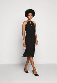 MICHAEL Michael Kors - CHAIN NECK MIDI DRESS - Cocktail dress / Party dress - black - 1