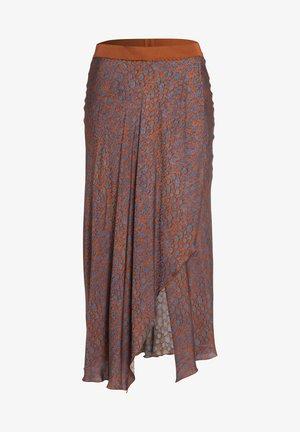 A-line skirt - cognac varied