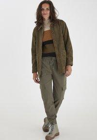 Fransa - FRMACORDUROY - Summer jacket - dark olive - 1