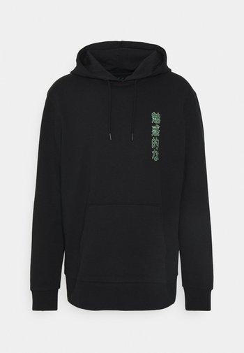 FLORAL GIRL PRINT HOODIE UNISEX  - Sweatshirt - black