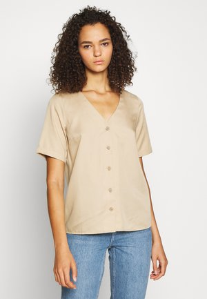 PCMARYLEE V-NECK TALL - Bluser - warm sand