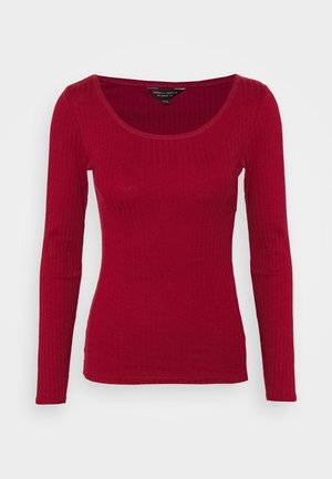 SCOOP NECK  - Maglietta a manica lunga - oxblood