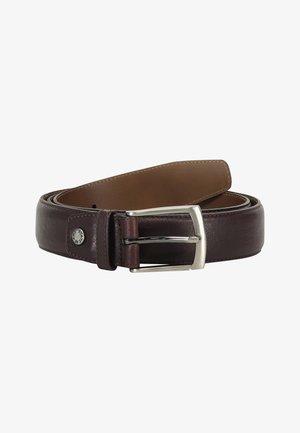 Belt - dark brown plain